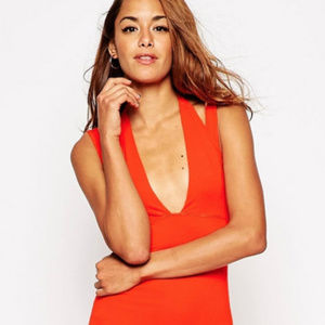 ASOS Double Strap Maxi Dress Red
